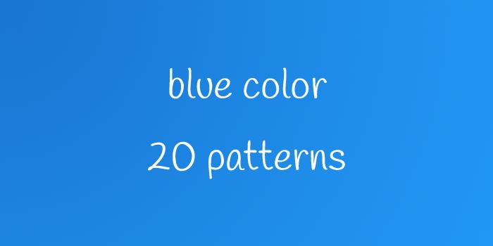 blue color 20 patterns