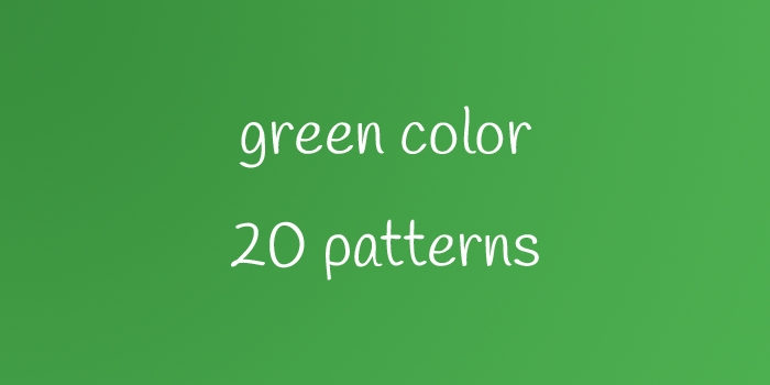 green color 20 patterns