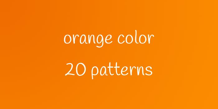 orenge color 20 patterns