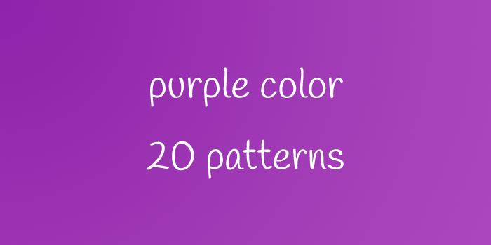 purple color 20 patterns