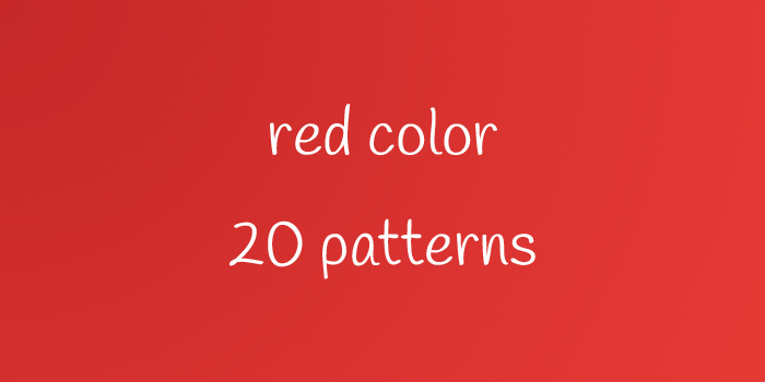 red color 20 patterns