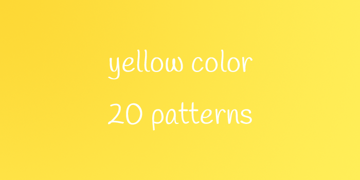 yellow color 20 patterns