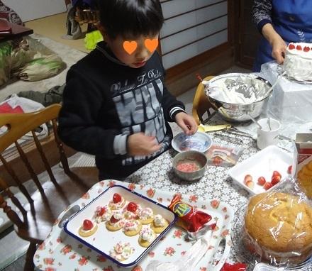 4クリスマスケーキ20171216