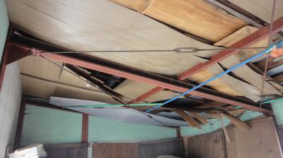 作業小屋の天井