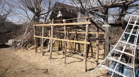 掘っ建て小屋の軸組