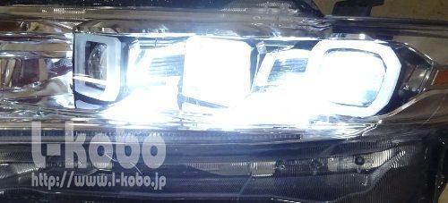 60ハリアー後期型ヘッドライト加工3