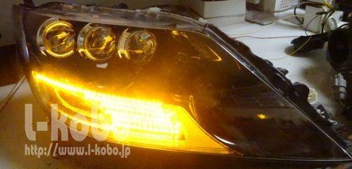レクサスLS600シーケンシャルウインカー2