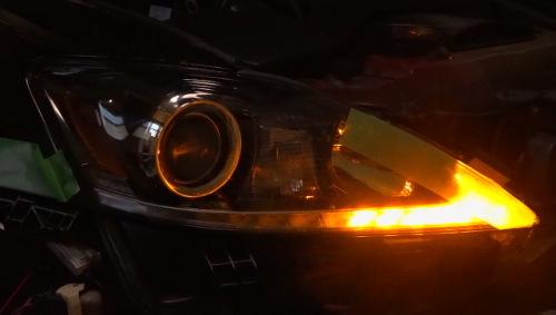 レクサスISヘッドライト加工1
