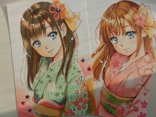 年賀状 手書き 花札 - コピー