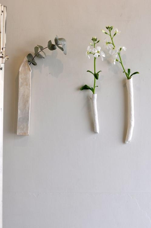 大島奈王/家の壁掛け花入、枝の壁掛け花入-3
