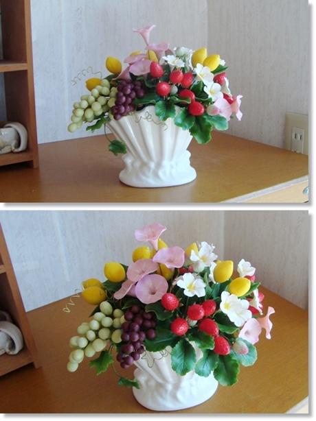 お色直し 花とフルーツ