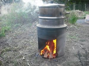 171230蒸しています。炎