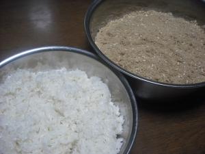 180124炊いた餅米と麹等