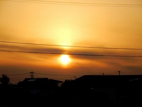 夕日がキレイでし