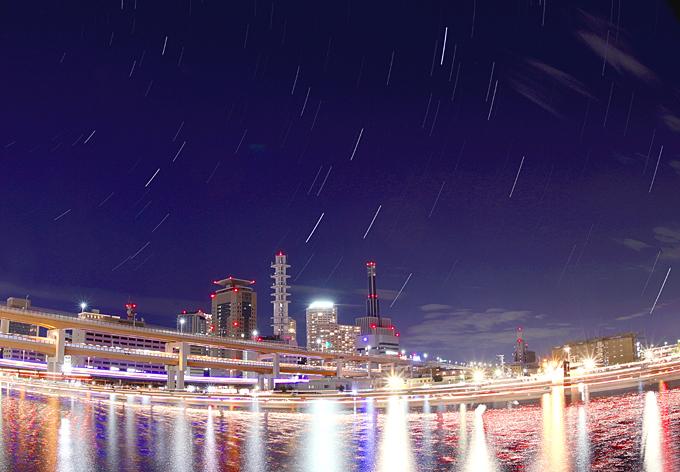 神戸港星景色 はくちょう座001