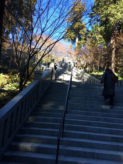 山寺だもん階段が