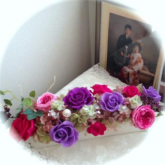 プリザ 結婚写真2