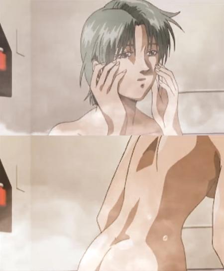 PS版プレイステーション版Zガンダムのムービー フォウ・ムラサメの全裸ヌード入浴シーンお尻