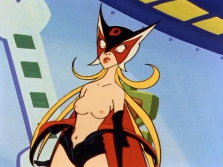 ヤッターマン1977 ドロンジョ様の胸裸ヌード乳首55