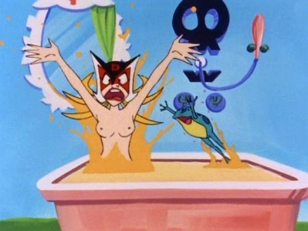 ヤッターマン1977 ドロンジョ様の入浴シーン胸裸ヌード乳首67