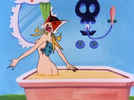 ヤッターマン1977 ドロンジョ様の入浴シーン全裸ヌード69