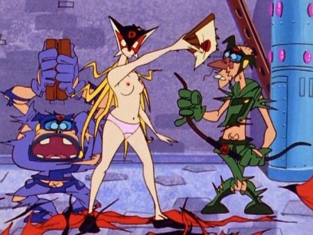 ヤッターマン1977 ドロンジョ様の胸裸ヌード乳首パンツ70