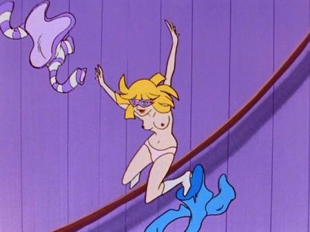 ヤッターマン1977 ドロンジョ様の胸裸ヌード乳首パンツ73