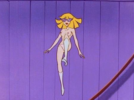 ヤッターマン1977 ドロンジョ様の胸裸ヌード乳首パンツ74