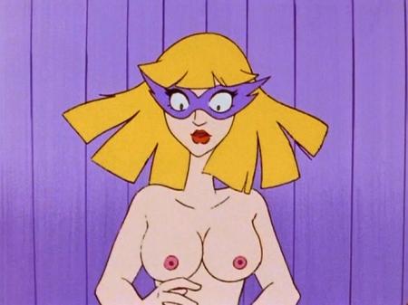 ヤッターマン1977 ドロンジョ様の胸裸ヌード乳首75