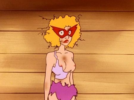ヤッターマン1977 ドロンジョ様の胸裸ヌード乳首80x