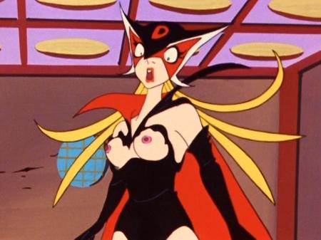 ヤッターマン1977 ドロンジョ様の胸裸ヌード乳首84