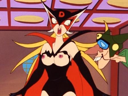 ヤッターマン1977 ドロンジョ様の胸裸ヌード乳首85