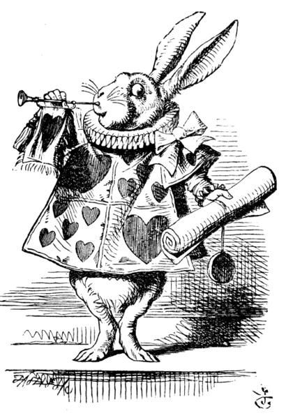 ラッパ吹いてるウサギ