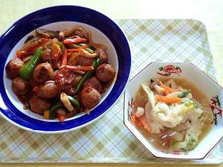 CAI_180208_5064 鶏団子の甘酢あんかけ・スープ餃子_VGA