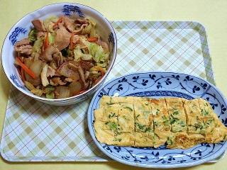 CAI_180215_5070 生姜漬け豚肉の野菜炒め・玉子焼き_VGA
