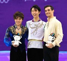 180217 「平昌冬季五輪」フィギュアスケート男子シングル表彰台 BBJeW50