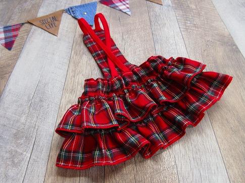 M*mania★モナカちゃんのチェックフリルスカート
