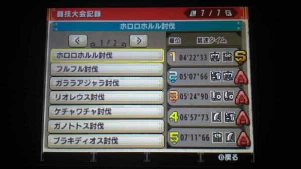 MHXXギルカ 闘技大会記録01