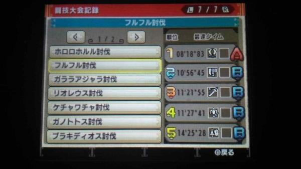MHXXギルカ 闘技大会記録02