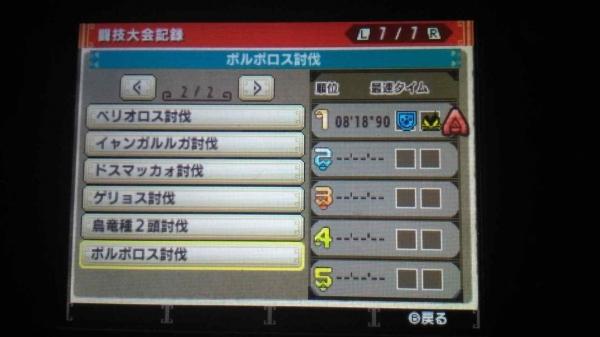 MHXXギルカ 闘技大会記録13