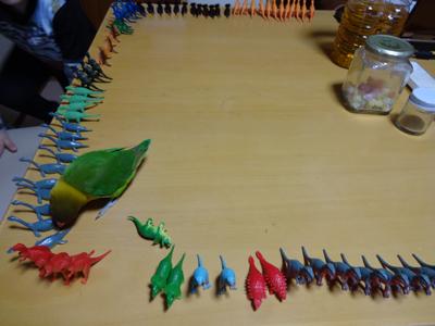 恐竜とKM1