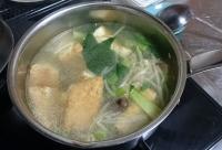 小松菜のピリピリスープ