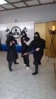 忍者と記念撮影
