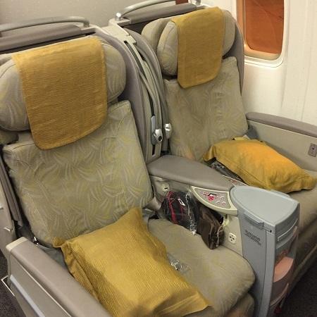 アシアナ航空ビジネスクラスシート