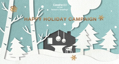 CASSINA IXC. ONLINE STORE HAPPY HOLIDAY CAMPAIGN!