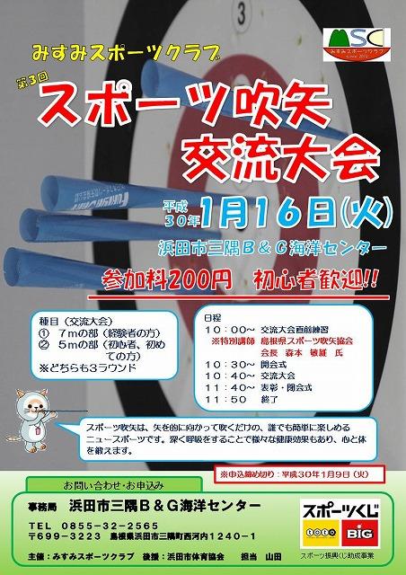 H300116スポーツ吹矢交流大会チラシ