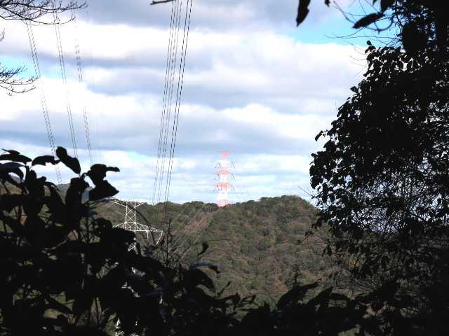 IMG6712JPG朝歩いて来た朱色鉄塔と361mp