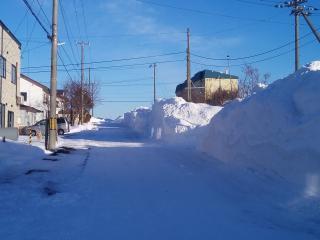 排雪後の道路