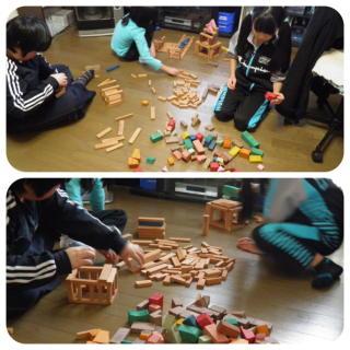 積み木作業1