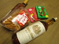 頂きもののお酒とお菓子
